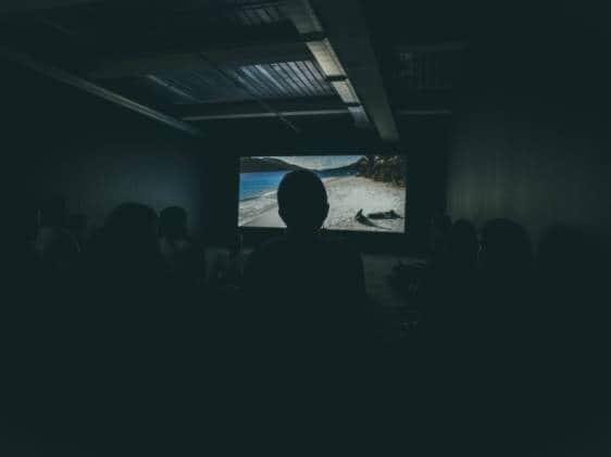 A small film screening