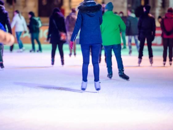 winter ice skating outdoor rink
